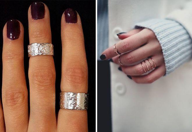 Модни фалангеални прстенови