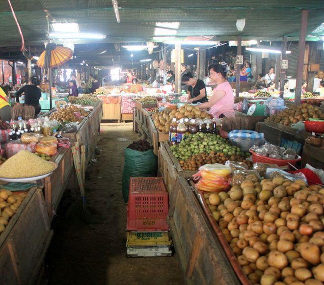 Городской рынок в центре Пхонсавана