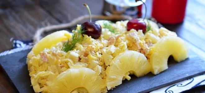 """Salata """"Nježna"""" s piletinom i ananasom - recept"""