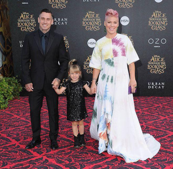 Пинк с мужем и дочерью Уиллоу