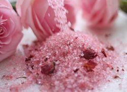 różowy zasiłek soli i szkoda