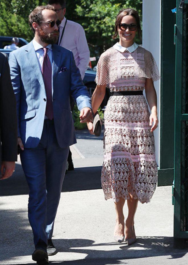 Пиппа была одета в платье Dolce&Gabbana