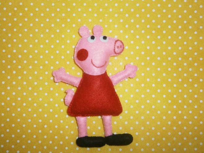 Świnka Pippa z filcu16