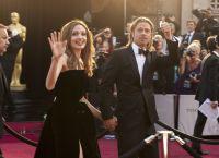 Брэд Питт и Анджелина Джоли на церемонии Оскар 2012