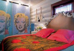 sypialnia pop art