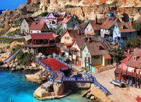 Вид на деревню со скалы