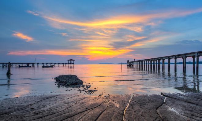 Закат в Порт Диксоне