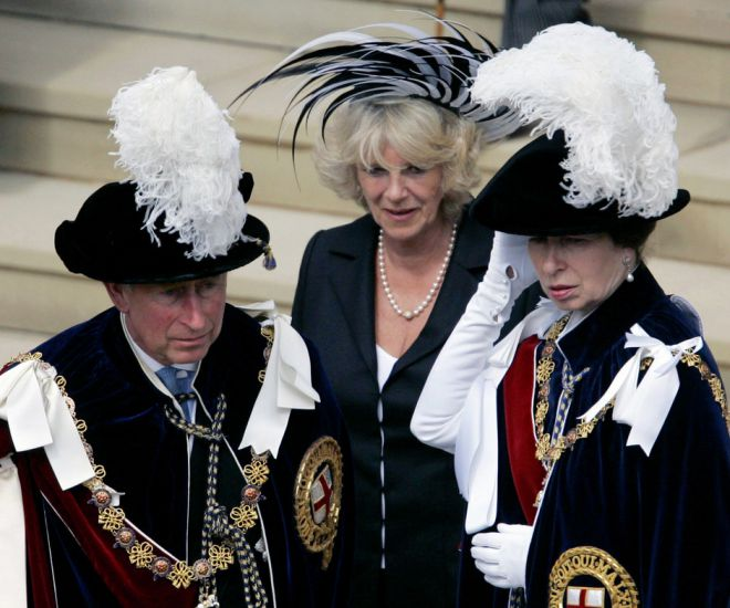 Принц Чарльз, Камилла Паркер-Боулз и принцесса Анна