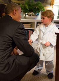Неформальная встреча в халате с Бараком Обамой