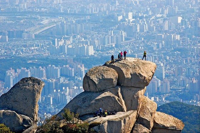Вид с горы на Сеул
