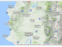 Разрушенный порт Пуэрто-Лопес на карте