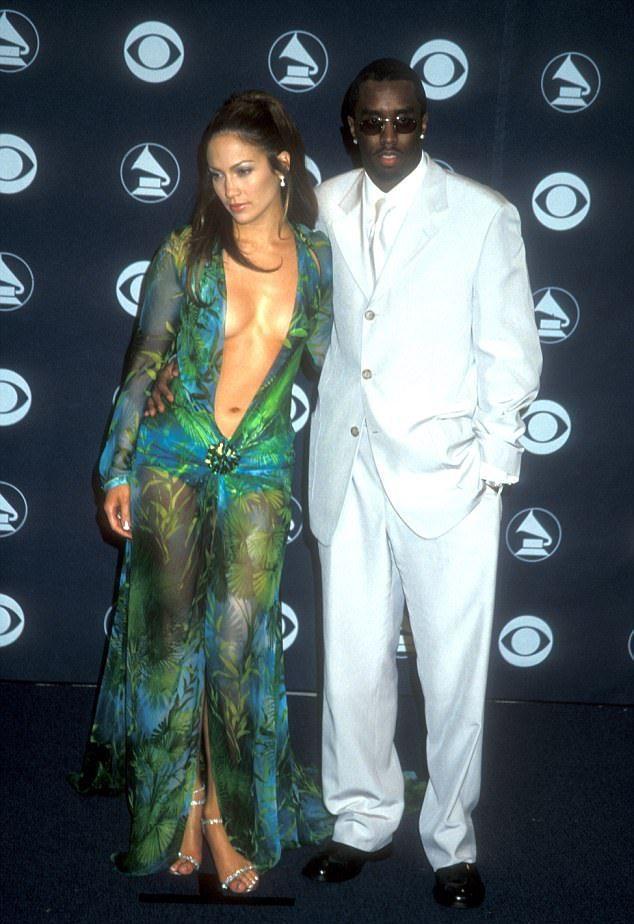 Пафф и его девушка Дженнифер Лопес в 2000 году