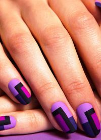 fioletowy manicure 5
