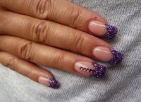 fioletowy manicure 7