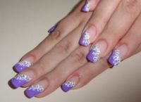 fioletowy manicure 8