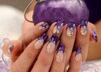 fioletowy manicure 9