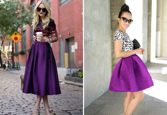 фиолетовая юбка солнце