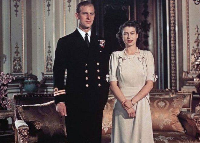 Королева с принцем Филиппом