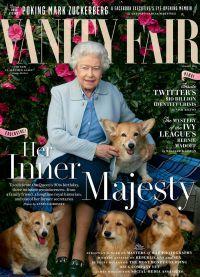 Елизавета II с собачками появилась на обложке VANITY FAIR