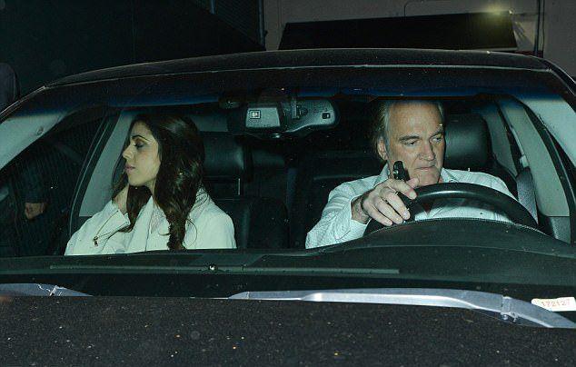 Квентин Тарантино с Даниэлой Пик в авто