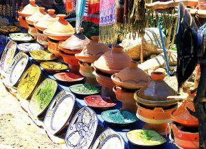 Керамические изделия на рынке Рабата