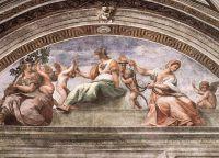 Фреска Мудрость, умеренность и сила, Станца делла Сеньятура