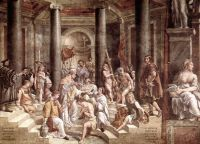 Фреска Крещение императора Константина, Станца Константина