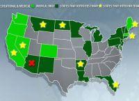 Марихуану легализовали в некоторых штатах