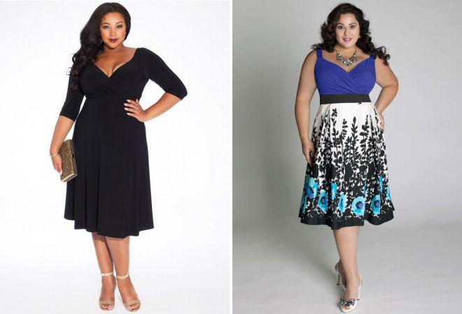 расклешенные платья для полных женщин