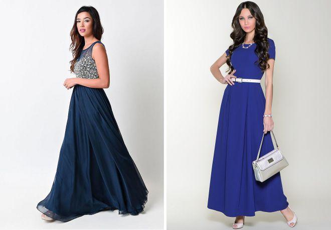 длинные расклешенные платья