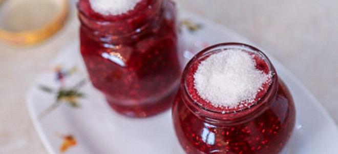 Maliny tarte cukrem na zimę