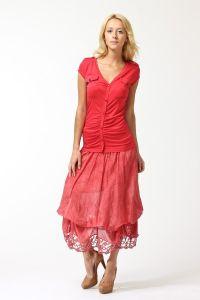 Czerwona długa spódnica 3