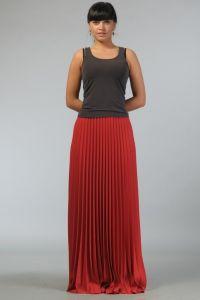 Czerwona długa spódnica 4