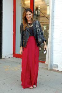 Czerwona długa spódnica 7