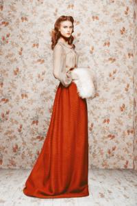 Czerwona długa spódnica 8