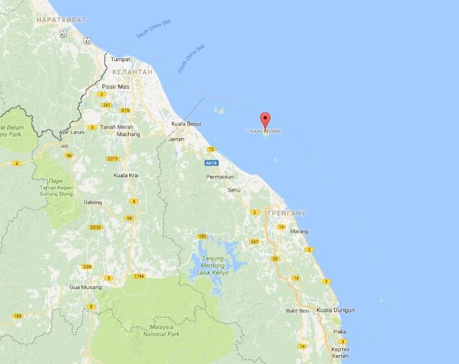 Остров на карте