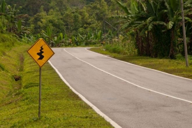 Дорожный знак в Малайзии