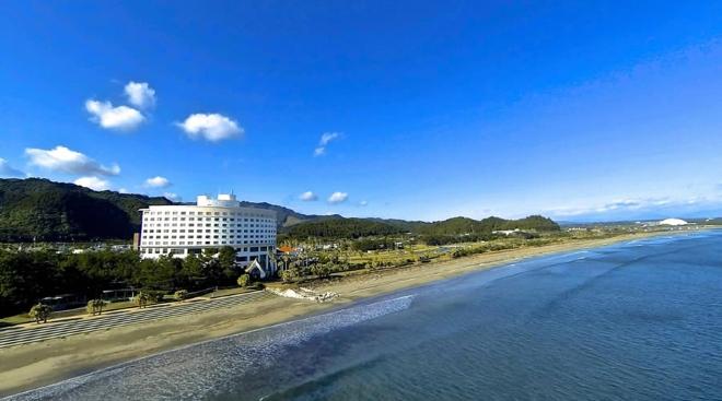 Пляж курортного города Миядзаки