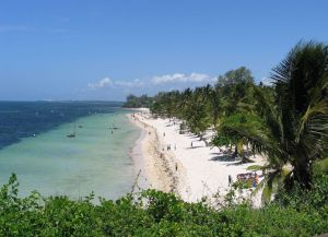 Популярный  пляжный курорт Момбаса