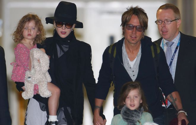 Кидман с семьей
