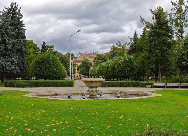 Парк Зиедоньдарзс в Риге