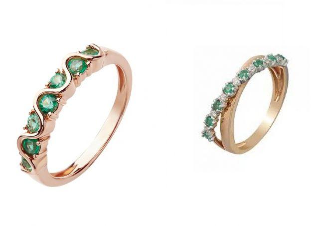 кольца для помолвки с изумрудом
