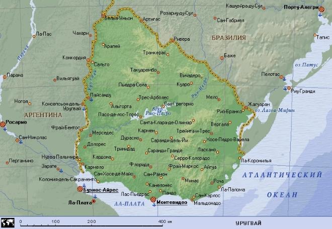 Река Рио-Негро на карте