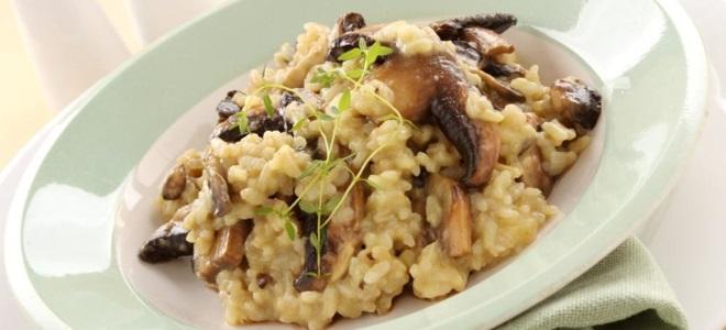 ricotta rižota od gljiva