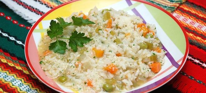 rižoto s receptom povrća