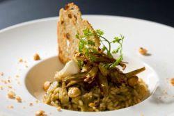 risotto z karczochami i jagnięciną