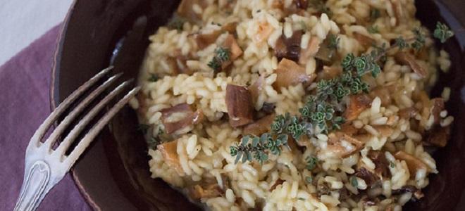 Rižoto s suhim gljive
