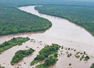 Река Меконг - самая крупная река Камбоджи