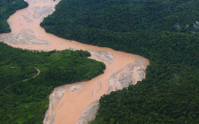 Река Ок-Теди в Новой Гвинее, Индонезия