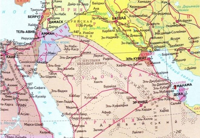 Эр-Рияд на карте